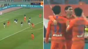 Marouane Fellaini Scores On His Shandong Luneng Taishan FC Debut