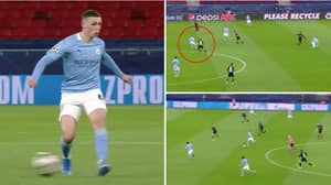 Phil Foden Turns, Drives Towards Goal And Pulls Off An Outrageous 'No-Look' Pass Assist