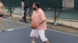 Adam Sandler Brutally Roasted Online For His Choice Of Clothing During A Pickup Basketball Game