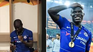 N'Golo Kante FaceTiming His Family With His Europa League Winners' Medal Is Everything