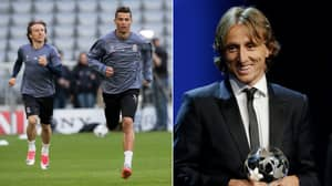 The Classy Message Cristiano Ronaldo Sent To Luka Modric After Winning POTY Award