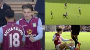 A Young Jack Grealish Got Kicked All Over The Park On His Home Premier League Debut For Aston Villa