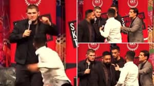 Khabib Didn't Even Flinch When Stage Invader Approached Him, Offered Him Vital Advice