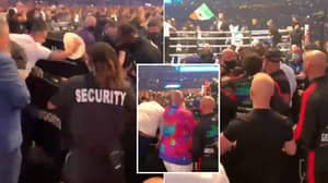 Ugly Video Shows Billy Joe Saunders' Father Attacked By Security In Wild Brawl, Tyson Fury Tries To Break It Up