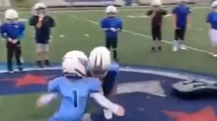 People Left Fuming After Monster Hit During Kids American Football Drill Goes Viral