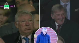 Sir Alex Ferguson's Dismayed Reaction To Liverpool Mauling As Sir Kenny Looks On Chuckling