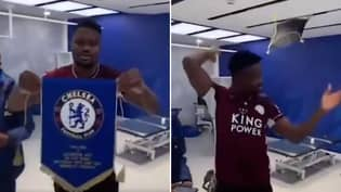Footage Of 'Disrespectful' Daniel Amartey Throwing Chelsea's Pennant To The Floor Has Emerged
