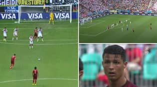 When Germany Made A One Man Wall With Shortest Player On The Pitch And Cristiano Ronaldo Still Managed To Hit Him