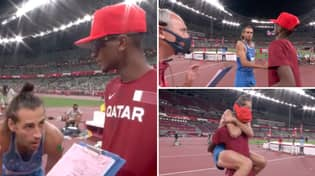 Olympic High Jumpers Share Gold Medal In Remarkable Show Of Sportsmanship