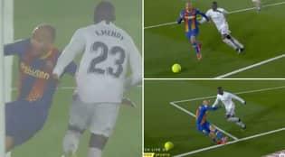 Barcelona Denied Penalty After Ferland Mendy 'Pulls' Martin Braithwaite's Shirt In Controversial Scenes