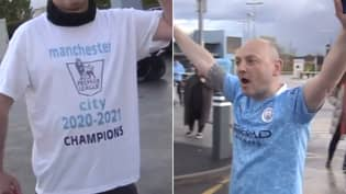 Man City Fans Savagely Mocked For Their Premier League Title Celebrations Outside The Etihad