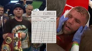 Judges' Scorecards For Canelo Alvarez's TKO Victory Over Billy Joe Saunders Revealed