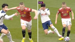 Edinson Cavani's Goal Against Spurs Ruled Out Due To Scott McTominay 'Foul' On Heung-Min Son