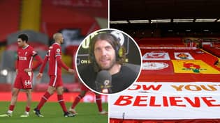 Liverpool Fan Blames The Colour Of The Seat Coverings For Horrendous Anfield Form