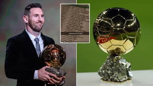 Ballon d'Or 2021 Winner Seemingly Leaked Online, Shows Top 26 Best Players