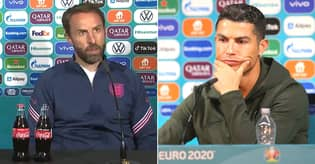 Gareth Southgate Explains Why He Didn't Follow Cristiano Ronaldo's Lead In Moving Coca-Cola Bottles