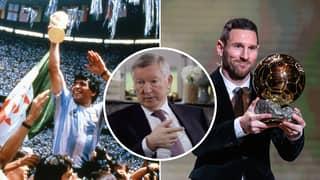 Sir Alex Ferguson Once Gave His Opinion On Diego Maradona Vs Lionel Messi Debate In Fascinating Talk