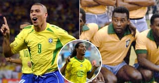 Ronaldo Is Voted Greatest Brazilian Footballer Of All Time Above Pele