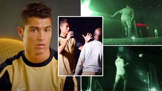 Rare Footage Sees Cristiano Ronaldo Achieve The Ultimate 'No-Look Finish' In Complete Darkness
