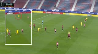 Lionel Messi Plays Inch-Perfect Pass To Jordi Alba In Outrageous Assist