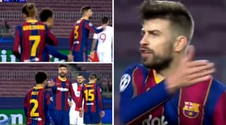 Gerard Pique Calls Antoine Griezmann 'Motherf***er' In Furious On-Pitch Row