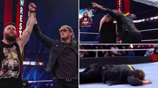 Logan Paul Gets Hit With A Stunner From Kevin Owens At WrestleMania