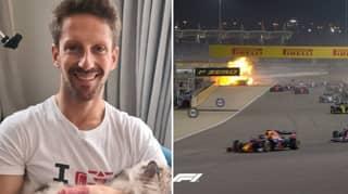 Romain Grosjean Shows Off His Hands After Horrific Burns From Bahrain Grand Prix