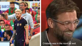 Jurgen Klopp Only Has One Selfie On His Smartphone And That's With Lionel Messi