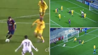When Lionel Messi Scored A Weaker Foot Hat-Trick In The Champions League