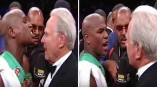 When Floyd Mayweather Was Brutally Shut Down By Interviewer Larry Merchant
