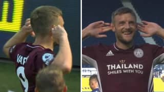 Jamie Vardy Goes Peak Jamie Vardy By Cupping His Ears In Front Of An Empty Hawthorns