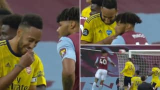 Pierre-Emerick Aubameyang Slammed By Fans After Being Distracted By Tyrone Mings Joke