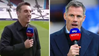 Gary Neville Hilariously Trolls Jamie Carragher For Not Winning Premier League