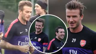 David Beckham Training With Arsenal Is Still The Weirdest Thing Ever