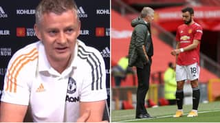 Ole Gunnar Solskjaer Finally Responds To Reports Of A Bust-Up With Bruno Fernandes