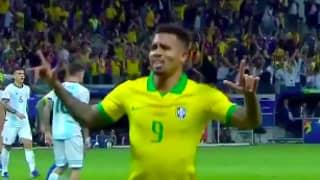 The Roar From Brazil Fans After Gabriel Jesus' Goal Was Absolutely Deafening