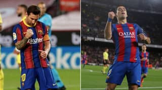 Lionel Messi Dedicated Celebration To Luis Suarez After Goal Against Villarreal