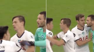 Tottenham's Hugo Lloris And Son Heung-Min Fight Moments Before Half-Time