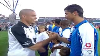 When Ronaldo Nazario And Cristiano Ronaldo Met On The Pitch