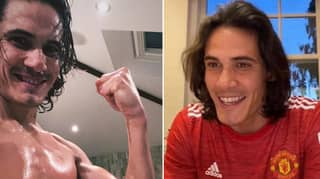 Edinson Cavani Shows Off His Physique Ahead Of Manchester United Debut