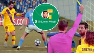 Fan's Lionel Messi Compilation Vs Napoli Shows His Complete 'Disasterclass Performance'