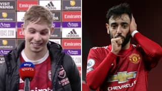 Emile Smith Rowe Says He Looks Up To Bruno Fernandes In Refreshingly Honest Post-Match Interview