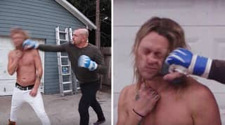 Fan Lets Former UFC Champion Chuck Liddell Punch Him In The Face