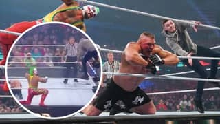 Rey Mysterio's Son Dominick Hits Brock Lesnar With A 619 And Frog Splash At Survivor Series