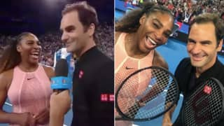 Roger Federer Beats Serena Williams In Mixed Doubles Match