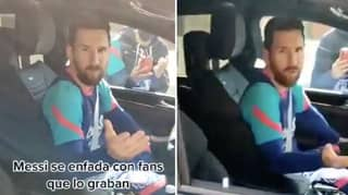 Lionel Messi Snaps At Barcelona Fans Who Were Filming Him Leaving Training