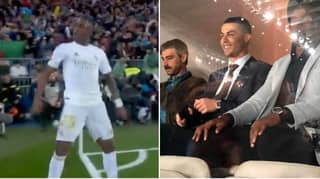 Vinicius Junior Did Cristiano Ronaldo's Celebration As He Watched On In The Stands