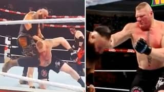 Brock Gets Kneed Flush On The Head, Then ACTUALLY Punches Opponent