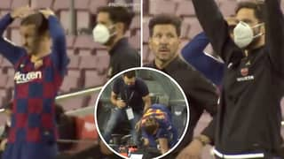 Diego Simeone's True Reaction To Antoine Griezmann's Substitution Shown In New Touchline Footage