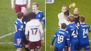 The Shocking Moment Referee Squares Up To Ipswich Town Player